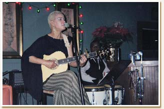 During a show at Kafe Kelly's in 2005.