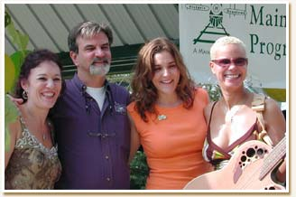 At Hapeville Happy Days with Mayor Alan Hallman and Allie O'Brien in 2005.